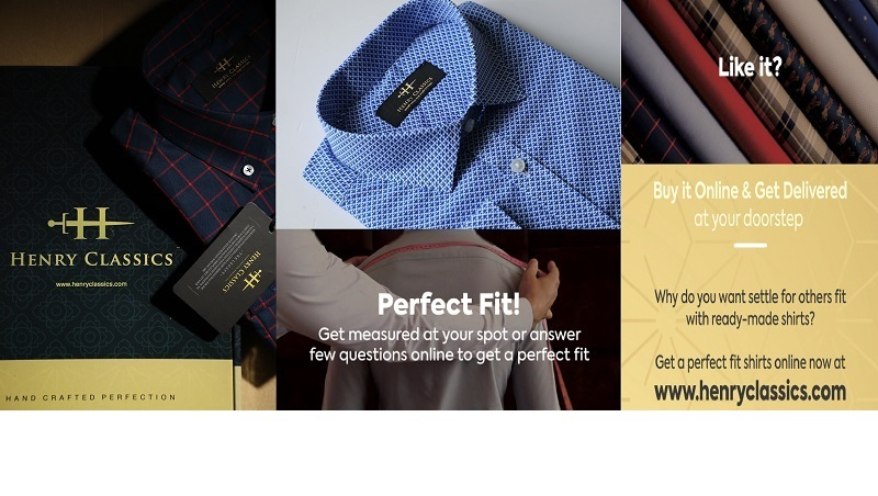 Henry Classics: An online platform to order customized shirts
